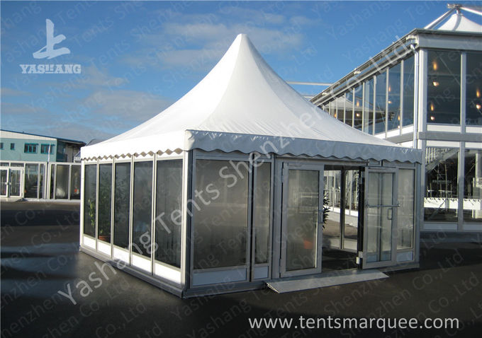 Clear Span Glass Wall Fabric Roof Cover Rain Tents Outdoor Events 12x60M Size