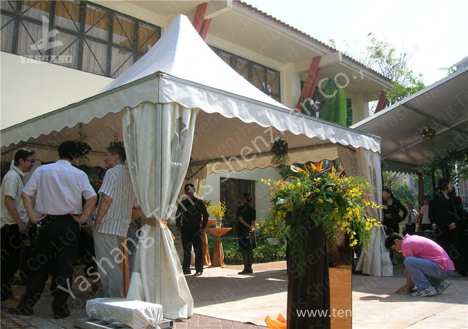 Outdoor Soft PVC Window Pressed High Peak Tents Aluminum Alloy Frame