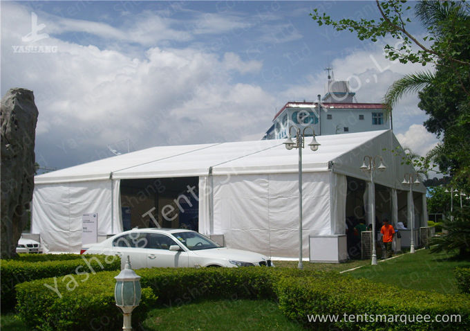 20m Wide Big White Trade Show Outdoor Exhibition Tents Aluminum Framed Structure