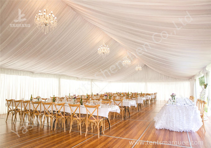 White Lining Adored Aluminum Framed Luxury Wedding Tents , Beach Wedding Marquee