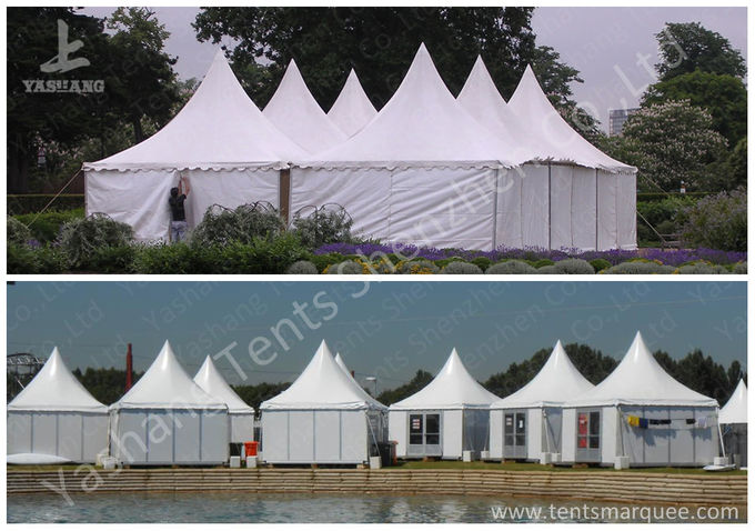 Fast Setting Up Strong High Peak Tents / Aluminum Structure Tent Wind Resistant