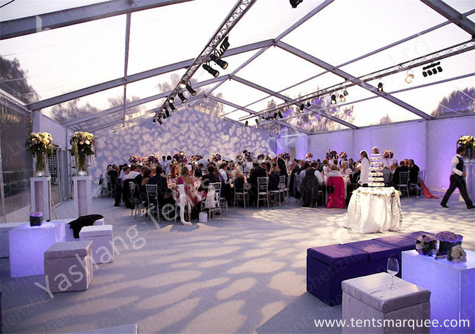 Clear and White Top Fabric Cover Outdoor Aluminum Luxury Wedding Tents
