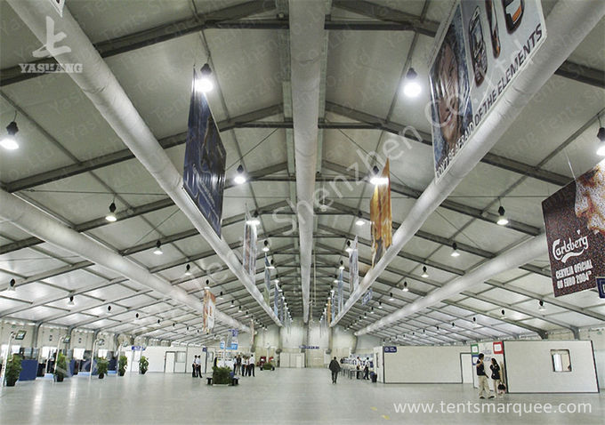 Transparent Glass Door outdoor canopy tent Applied in Airport , 25M Width