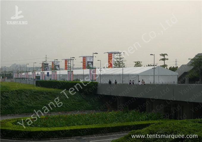 A frame Shape Aluminium Frame Marquee for Exhibition Events , White PVC Fabric Cover