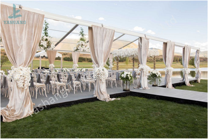 Wedding Event Structure Outdoor Clear Top Tent Transparent Roof Fabric Tent Canopy
